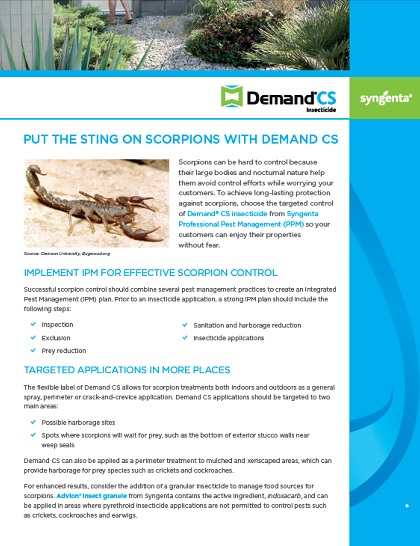 Demand CS Insecticide | Professional Pest Management | Syngenta